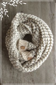 Farmhouse Scarf Cable Knit & Plaid Infinity Scarf by Northernly
