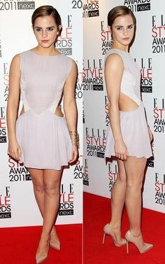 Emma Watson- Hakaan dress @ Elle Style Awards 2011