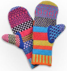 Mittens by Solmate Socks. American Made. See the designer's work at the 2015 American Made Show, Washington DC. January 16-19, 2015. americanmadeshow.com #mittens, #americanmade