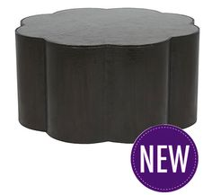 aja Scalloped Metal Coffee Table