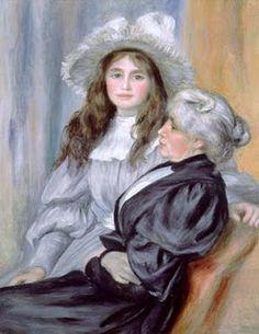 """A. Renoir. La señora Morisot y su hija."""" Algunos años después, me dijo Renoir: -No sé quien me ha contado que losAmigos del Luxemburgo deseaban algo mío. (...) Tenga, coja este pastel y vaya a decirle al presidente que les venderé este cuadro por cien francos."""""""