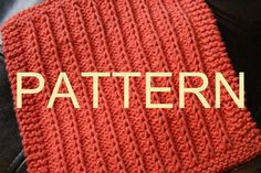 Knitting Pattern  Fields of Furrows  Dishcloth by Deb Buckingham, $2.50