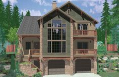 3 Front View House Plans Rear And Panoramic Plans For Lot With A Fancy Design Ideas
