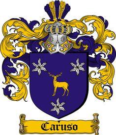 Italian Family History Crests ~ #famiglia #family #genealogia #genealogy #italian #crest #surname #coatofarms ~ Caruso coat of arms