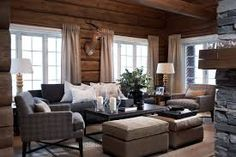 89 Excellent and Cozy Cabin Style Decoration Ideas - Homearchitectur Cabin Chic, Cozy Cabin, Cozy House, Chalet Chic, Ski Chalet, Living Room White, White Rooms, Living Room Colors, Cozy Living