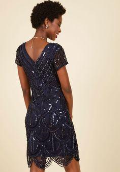 Cascading Cava Sequin Dress in Midnight | Mod Retro Vintage Dresses | ModCloth.com