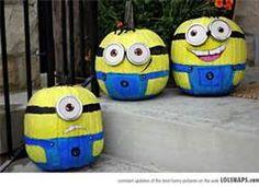 I want minion pumpkins!!!