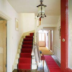 Hall carpet ideas creative of stair runner rug best runners on hallway striped grey carpets . Carpet Staircase, Hallway Carpet, Stairs And Hallway Ideas, Staircase Ideas, Banister Ideas, Staircase Makeover, Black Painted Stairs, Bedroom Carpet Colors, Entryway Flooring