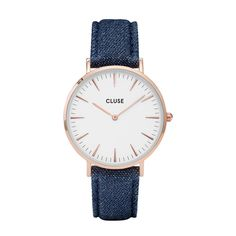 Cluse - La Boheme Rose Gold blue denim