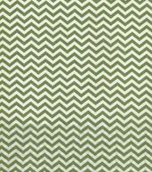 Quilter's Showcase Fabric- Chevron Green & Cream