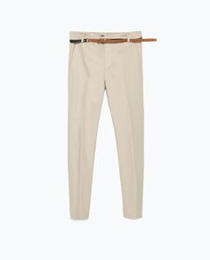 Image 8 of DOUBLE CLOTH TROUSERS from Zara