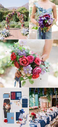 Colorful Summer Wedding at San Ysidro Ranch: http://www.stylemepretty.com/2015/03/10/colorful-summer-wedding-at-san-ysidro-ranch-part-one/?ncid=txtlnkussmp00000005
