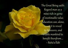 Regard man as a mine rich in gems.... - Baha'u'llah - pinned from http://www.bahaiwritingsasart.com/gleanings