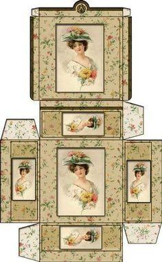 Printable Miniature Hat Boxes | Dollhouse Printable Boxes