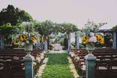 Ceremony location at Wave Hill! Photo by @chellise