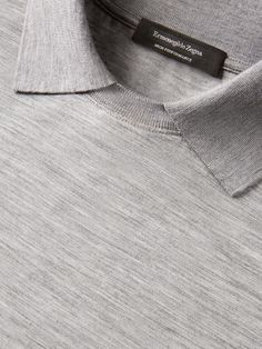 Polo Manga Comprida Cinzento Claro FW17 9963083 | Zegna