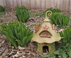Magical Toad House Fairy Gnome by ClaySoul Clay Houses, Ceramic Houses, Ceramic Birds, Clay Fairy House, Fairy Houses, Pottery Tools, Pottery Ideas, Toad House, Clay Fairies