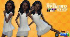 Onyx Sims: Peplum Dress Mesh • Sims 4 Downloads