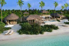 Family beach pool villa at Six Senses Laamu, Maldives