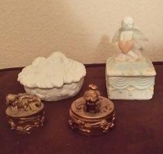 Decor, Angel trinket boxes small 4/set