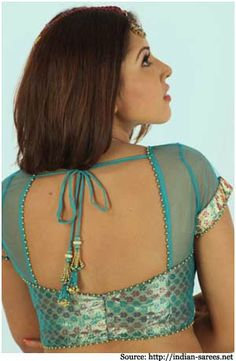 Net blouse designs.