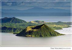 From Tagaytay Ridge, Taal Volcano and Lake Taal