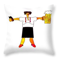 Drunken manager Throw Pillow for Sale by Lenka Rottova Framed Prints, Canvas Prints, Cartoon Characters, Greeting Cards, Snoopy, Jokes, Tapestry, Entertainment, House Design
