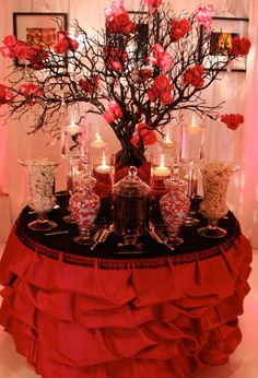 Contact A Signature Wedding Event Planning & Design Today Red Candy Buffet, Candy Buffet Tables, Dessert Buffet, Candy Table, Buffet Set, Dessert Tables, Wedding Candy, Red Wedding, Wedding Events