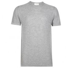 John Smedley 2 Singular Extra Fine Merino Wool Bardot Grey Shortsleeve Tshirt: This crew neck t-shirt is expertly crafted from 100% Merino wool featuring the unique honey comb texture seen throughout John Smedley's Singular range. Designed to compliment an array of physiques this ultra soft, stylish piece features turn back cuffs for an additional on trend touch.