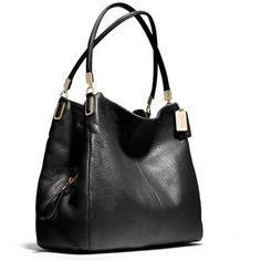 """Coach Phoebe hobo studded black purse handbag Leather; inside zip, cell phone and multifunction pockets; center zip compartment; magnetic snap closures, fabric lining; handles with 9 3/4"""" drop; 13 1/2"""" (l) x 11 1/2"""" (h) x 5 3/4"""" (w)  Inside: Fabric lining Main zip pocket Cell phone and multifunction pockets.                   No trades make an offer Coach Bags Hobos"""