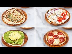 2 Ingredient Flatbread - 1 C Greek Yogurt & 1 C Self Rising Flour, cut mix into quarters, roll out, and griddle Vegetarian Recipes, Cooking Recipes, Healthy Recipes, Tasty Video, Healthy Snacks, Healthy Eating, Buzzfeed Tasty, Flatbread Recipes, 2 Ingredients