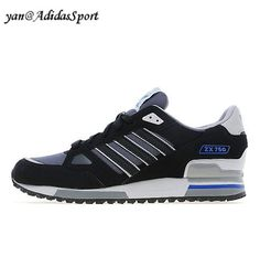 Adidas Originals ZX 750 men's running shoes Black/Grey Heather/Solid Gray HOT SALE! HOT PRICE!