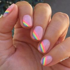 Pride nails 2019 Happy Pride Celebrating equality and love Spring nails or summer nails Pastel rainbow nails Clear Acrylic Nails, Summer Acrylic Nails, Pastel Nails, Purple Gel Nails, Nail Art Vernis, Cow Nails, Polygel Nails, Fall Nails, Coffin Nails