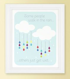 Walk In the Rain Poster (Free Printable) by artsuneel