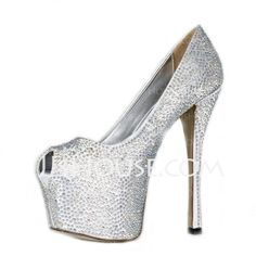 Pumps - $87.99 - Satin Stiletto Heel Sandals Platform Peep Toe With Rhinestone shoes (085026597) http://jjshouse.com/Satin-Stiletto-Heel-Sandals-Platform-Peep-Toe-With-Rhinestone-Shoes-085026597-g26597