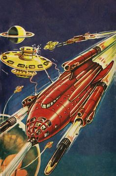 Norman Light - Intrigue on Io, 1952. / The Science Fiction Gallery