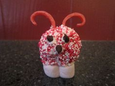 Adorable Love Bugs Made Out of Donut Holes {perfect for Valentine's Day}