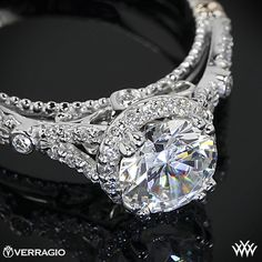Verragio Twisted Split Shank Diamond Engagement Ring from the Verragio Parisian Collection.