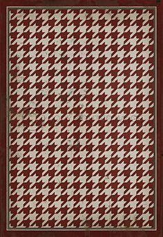 Pattern 13 Red on White - Vintage Vinyl floor cloths by Spicher&Co.