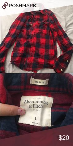Authentic Abercrombie & Fitch Flannel size large. brand new without tags. make offer Abercrombie & Fitch Shirts Tees - Long Sleeve
