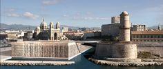 Le musée des civilisations de l'Europe et de la Méditerranée (MuCEM) in Marseille, France by Architect Rudy Ricciotti