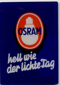 """ANOTHER GLASS MIRROR FROM """"OSRAM"""" ADVERTISING BULBS"""