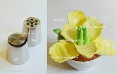 Boquillas para flores caseras - hechas con tapas de bebidas ~ Pasteles de colores
