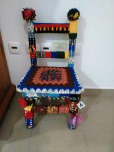 Cadeira infantil de crochet