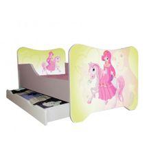 Kinderbett 70 x 140 cm weiß PRINZESSIN PFERD - mit Lattenrost und Matratze | Kids bed 70x140 cm princess horse #lilokids #kidsbed #kinderbett #kinder