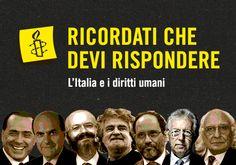 """Ricordati che devi rispondere"""", Amnesty Italia """"scende in campo"""" per i diritti umani"""