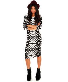 Peris Long Sleeve Tie Dye Midi Dress - Dresses - Missguided