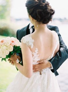 A Waterfront Wedding With Great Classic Style