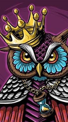 Wallpaper Graffiti, Graffiti Art, Eagle Wallpaper, Owl Wallpaper, Graffiti Drawing, Owl Tattoo Drawings, Cool Drawings, Art Tattoos, Cartoon Kunst