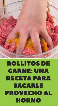Rollitos de carne: una receta para sacarle provecho al horno Mini Pains, Salsa, Meal Planning, Recipies, Food And Drink, Low Carb, Beef, Cooking, Queso